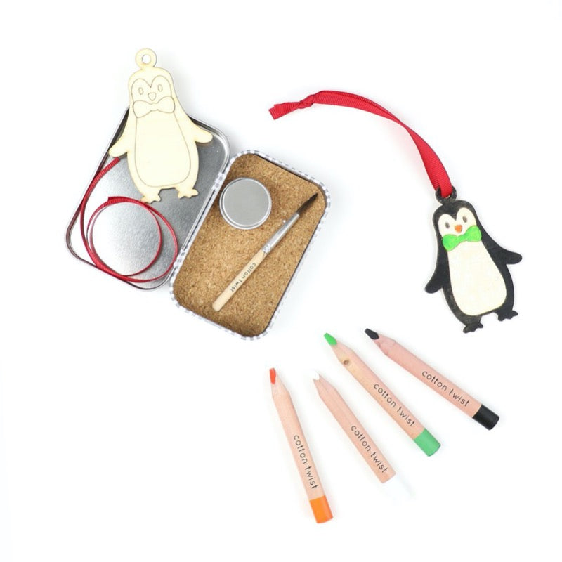 eco friendly craft gifts for kids - make your own penguin decoration cotton twist