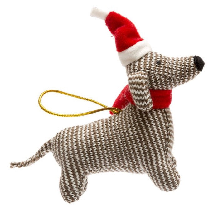 knitted christmas decoration