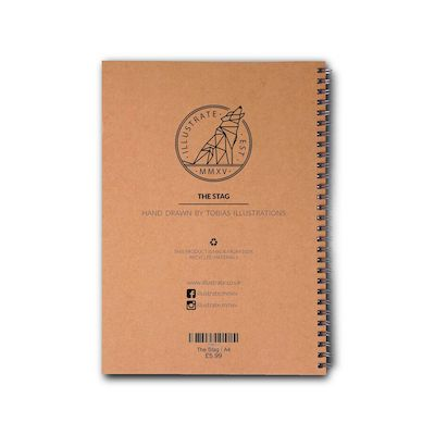 Artist Designed Recycled A5 Notebook - 'The Stag' | Illustrate