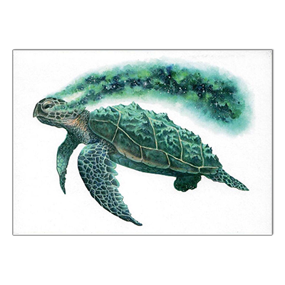 'Cosmic Turtle' Greeting Card | Illustrate