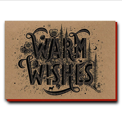 'Warm Wishes' Greeting Card | Illustrate