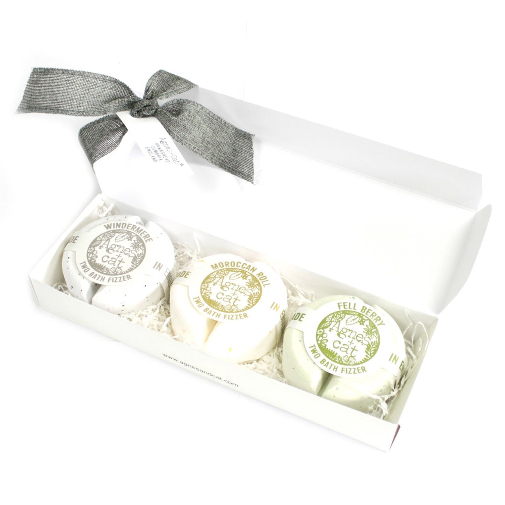 Natural Bath Fizzer Gift Boxes | Agnes + Cat