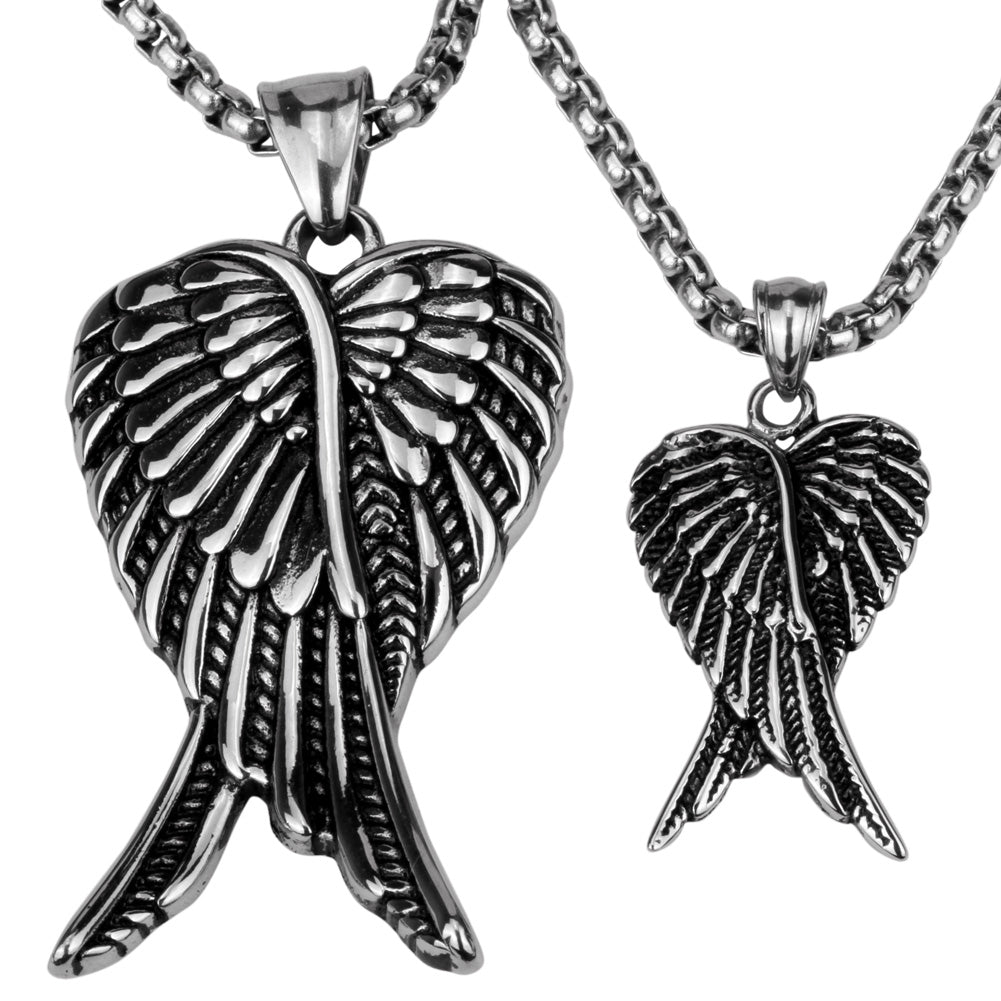 crystal itm ebay angel large pendant silver long chain necklace wings guardian s