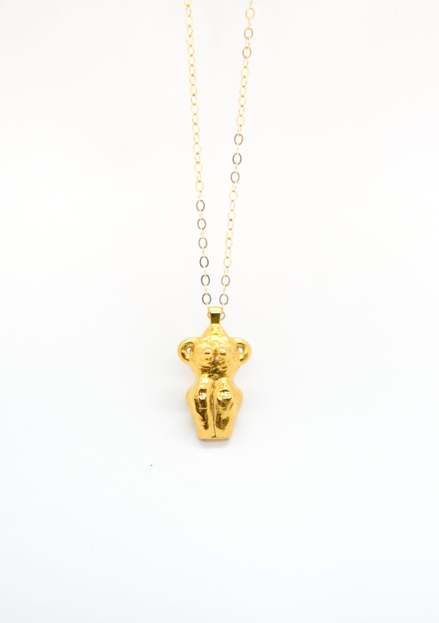 Oaxaca Woman Pendant - Gold