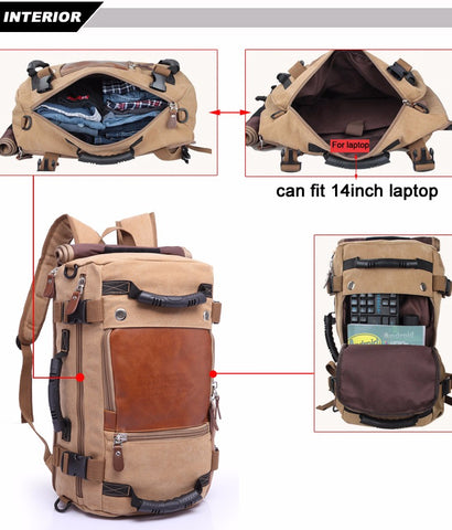 Stylish Travel Large Capacity Backpack Male Luggage Shoulder Bag ... 3c0f4b0e3b548