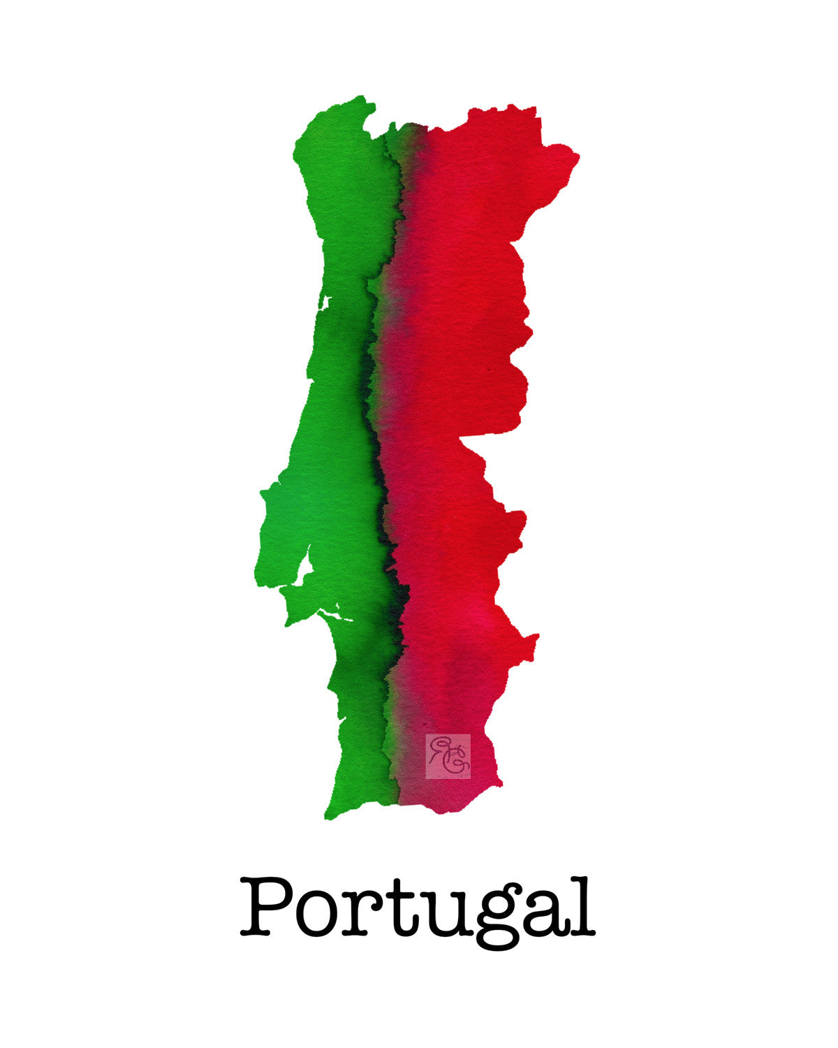 Watercolor Portugal (Ltd. Edition Giclée Print)