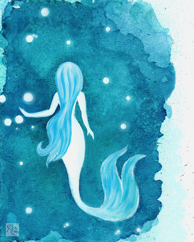 Saltwater Mermaid (Giclée Print)
