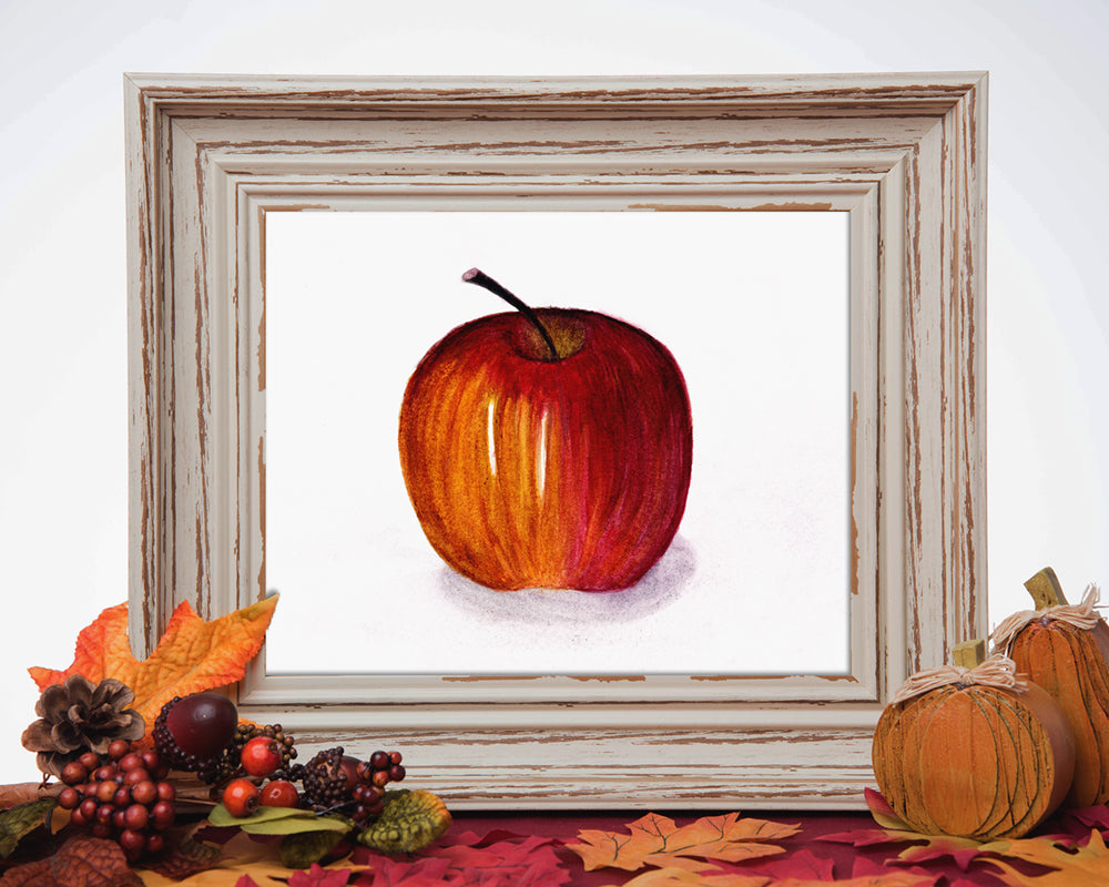 Autumn Apple - Watercolor Print (5X7)