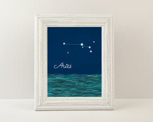 Aries Constellation - Art Print (5X7)