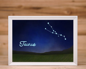 Taurus Constellation - Art Print (5X7)