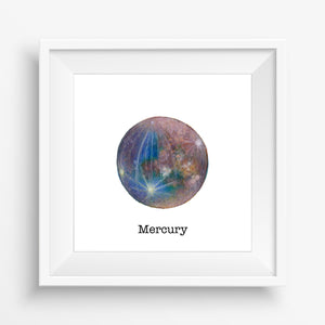Planet Mercury - Watercolor Print (5X5)