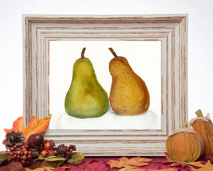 Pair of Pears - Watercolor Print {5X7)