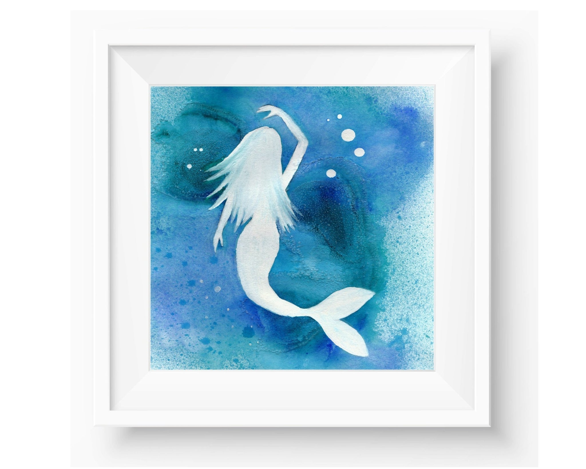 Saltwater Mermaid - Watercolor Print (multiple sizes)