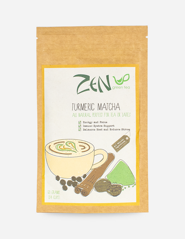 ZEN GREEN TEA Turmeric Matcha Tea Powder 60g