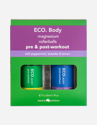 Eco Aroma - Duo Pre and Post Workout Magnesium Rollerball 20ml