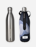 bbbyo Stainless Steel Insulated Bottle & Carry Cover - 1000ml - Black Wave