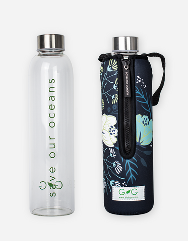 Glass is Greener Bottle & Carry Cover - Orient 750ml
