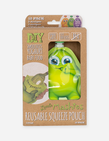Little Mashies Reusable Squeeze Pouch Mixed 10 Pack