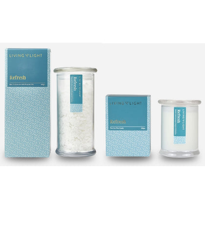 Refresh - Candle With Bath Crystals Bundle