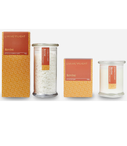 Revive - Candle With Bath Crystals Bundle