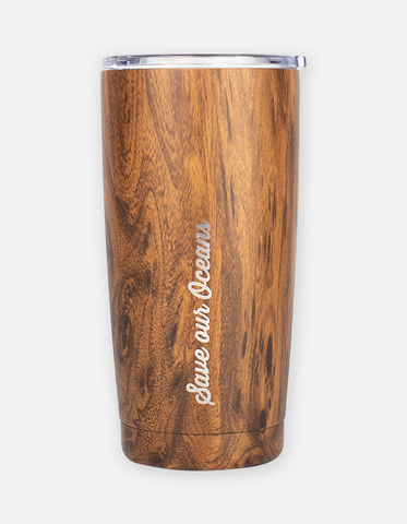 bbbyo Coffee Fix Stainless Steel Insulated Traveller - 600ml - Wood