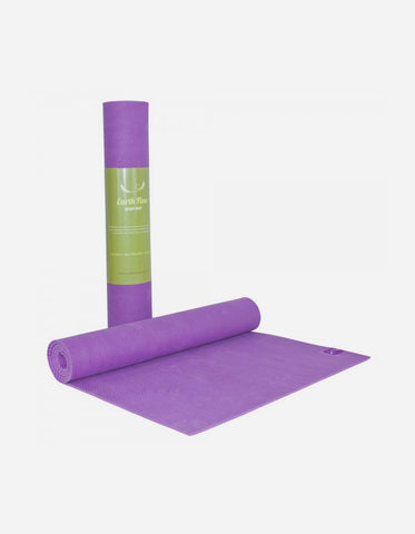 Stretch Now Earth Flow Yoga Mat 4mm Rubber Purple