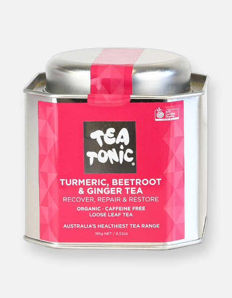 Tea Tonic – Turmeric, Beetroot & Ginger Loose Leaf Tea Tin
