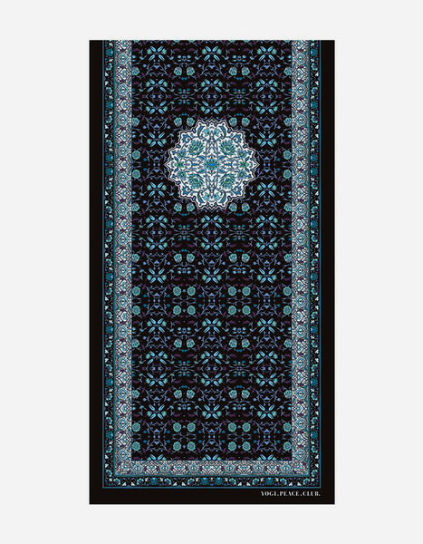 Yogi Peace Club - Lotus Yoga Mat Grip + Blue