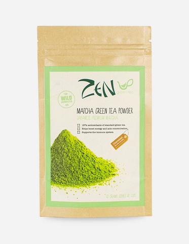 ZEN GREEN TEA Matcha Green Tea Powder 100% Japanese Harvested 60g