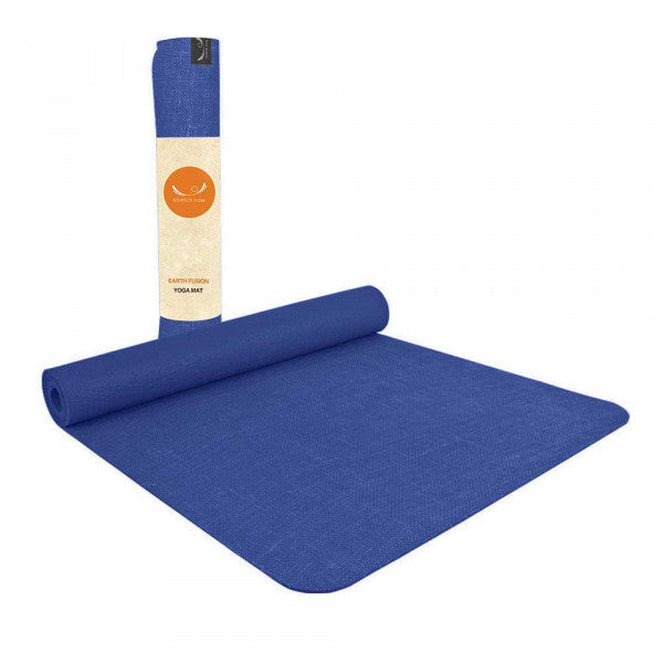 Stretch Now Earth Fusion Yoga Mat 4mm Natural Jute & Rubber