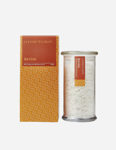 Living Light Well-Being Bath Crystals - Revive 400gm