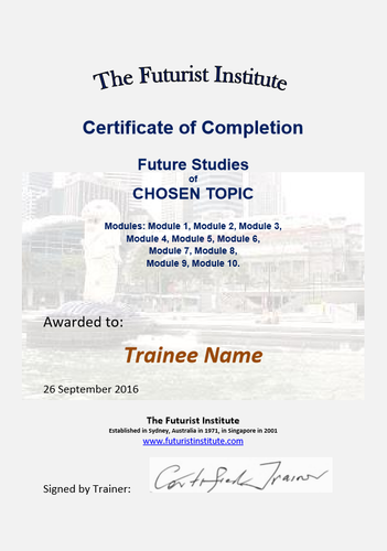 Test Delivery of E-Learning Certificate