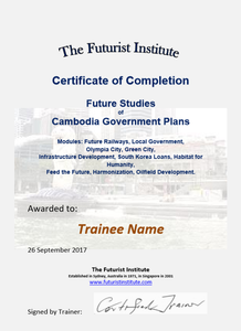 Topic 71 E-Learning - Program for Cambodia Government Plans