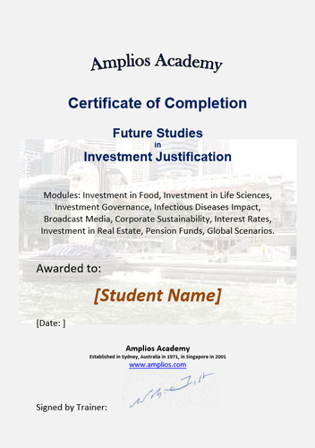 Topic 09 E-Learning - Future Studies in Investment Justification