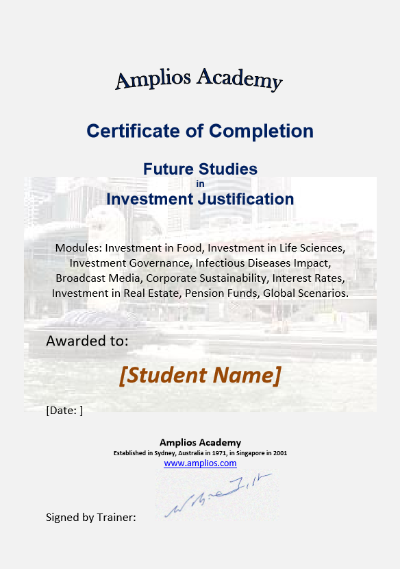 Topic 09 E-Learning - Future Studies in Investment Justification - Student Discount