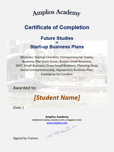 Topic 10  E-Learning - Future Studies in Start-up Business Plans