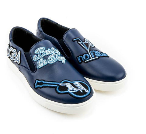 DOLCE & GABBANA  BLUE SHOES CS1376-AI087-89903