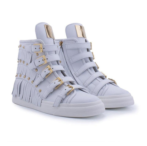 GIUSEPPE ZANOTTI  BLUE SHOES RS5043-56048-WHITE