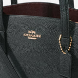 COACH POLISHED PEBBLE LEATHER CHARLIE CARRYALL 28 BAG 29529-LIBLK