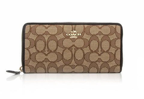 COACH  BROWN WALLET 53602-LIC7C