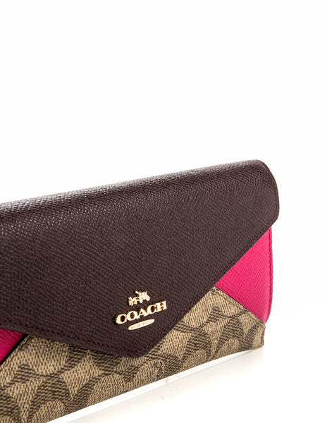 COACH SIGNATURE COATED CANVAS RED BAG 55065-LIEHI