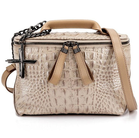 HAVANA & CO.  BEIGE BAG CUBE-M-BEIGE