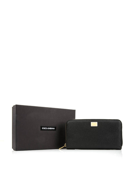 DOLCE & GABBANA WOMEN BLACK WALLET BI0473-A1001-80999