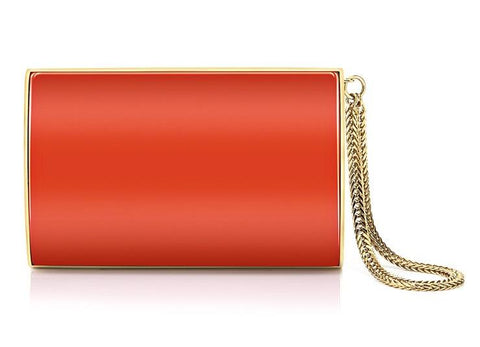 JIMMY CHOO  ORANGE WALLET 133CARM-ORANGE