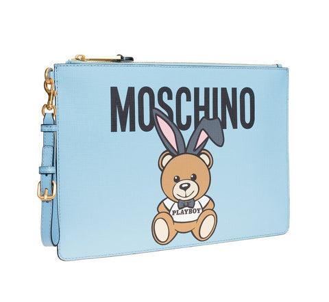 MOSCHINO  BLUE BAG CHINO-TEDDY-PLAYBOY-CLUTCH-BAG-DO-8420-8210-1305