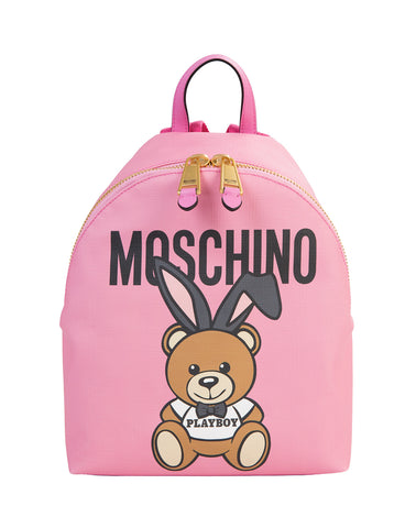 MOSCHINO  BAG CHINO-PLAYBOY-BEAR-LEATHER-BACKPACK-BAG-DO-7633-8210-1208
