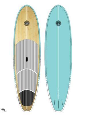 Stand Up Paddle Board - Cruiser Bamboo Aqua 9'6 - Ocean & Earth WA