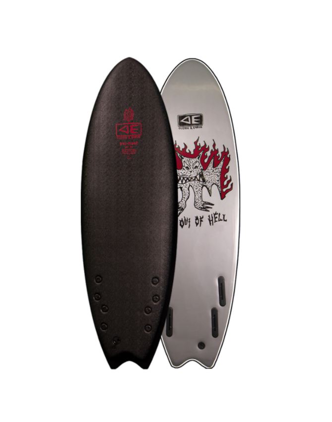 Bat Outta Hell Ezi-Rider 5'6 Quad - Ocean & Earth WA