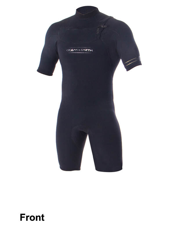 Double Black 2/2 chest zip Spring Suit - Ocean & Earth WA