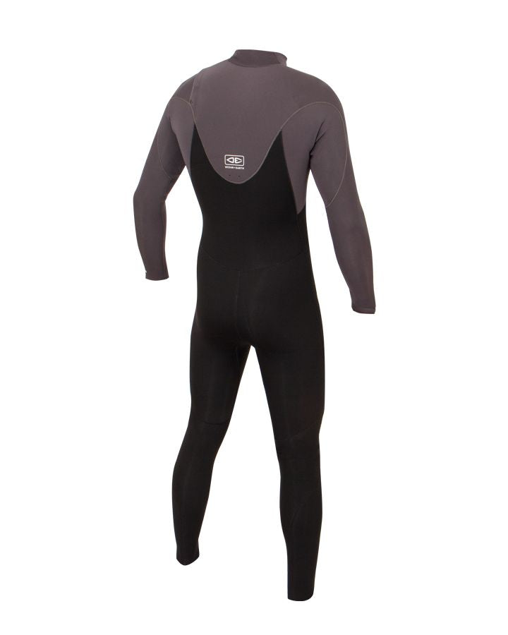 Mens Free Flex Chest Zip Steamer wetsuit